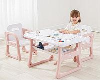 Детский стол и два стульчика Yasmei розовый