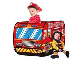 Детская игровая палатка Pituso Пожарный фургон J1095 красный