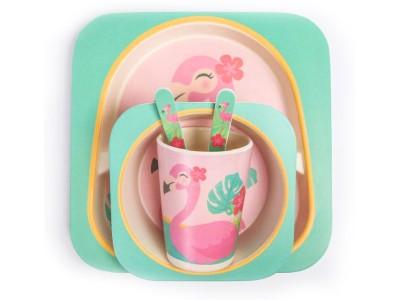 Посуда Крошка Я Набор детской посуды «Фламинго» 4482562