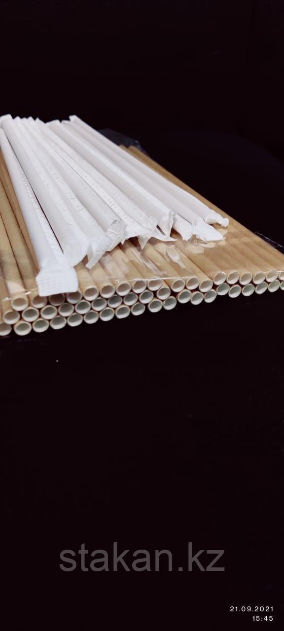 Трубочки бумажные 10х240мм (КРАФТ) в ИНДИВИДУАЛЬНЫХупаковках