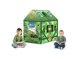Детская игровая палатка Pituso Дом Милитари 995-5009E зеленый