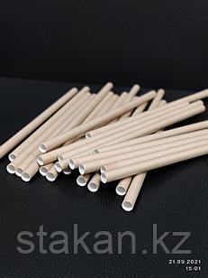 Трубочки бумажные 8х240мм (КРАФТ)