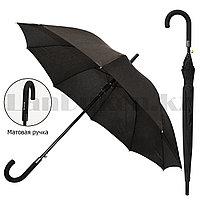 Зонт трость мужской полуавтомат 86 см черный