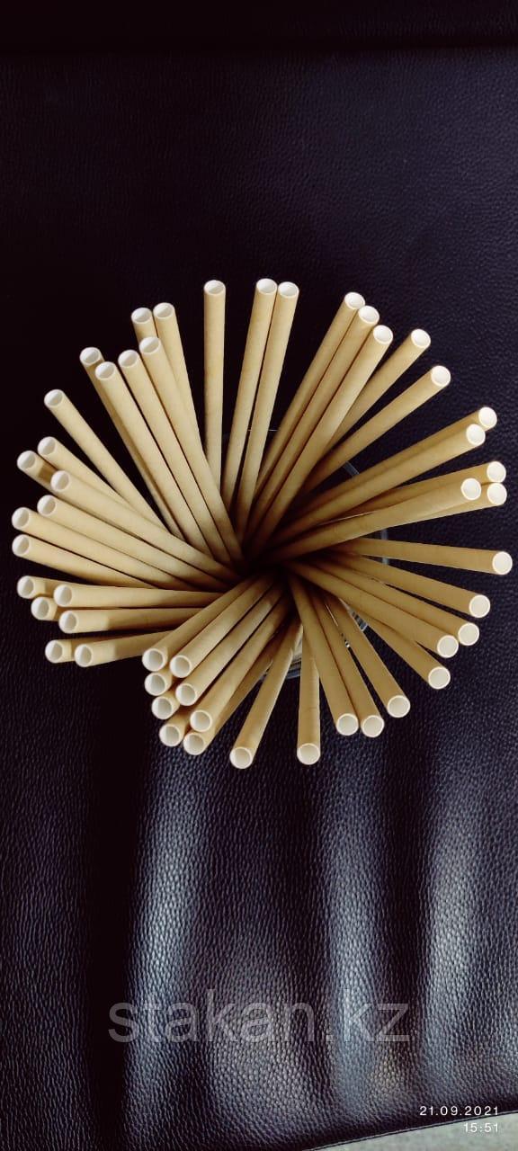 Трубочки бумажные 6х220мм (КРАФТ)