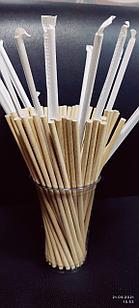 Трубочки бумажные 6х220мм (КРАФТ) в ИНДИВИДУАЛЬНЫХупаковках