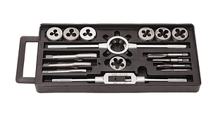 Набор метчиков и плашек метрический 16 предметов (М3х0.5, М4х0.7, М5х0.8, М6х1, М8х1.25, М10х1.5, М12х1.75)