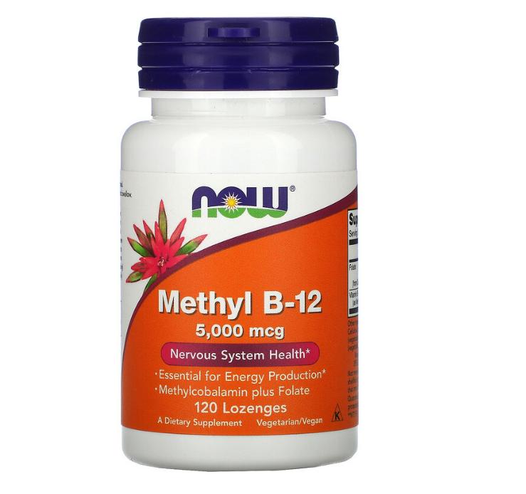 Now Foods, метил B12, 5000 мкг, 120 пастилок