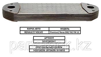 Радиатор масляный/ теплообменник/ маслоохладитель на RENAULT/ VOLVO, РЕНО, BZT 7420729259-Y