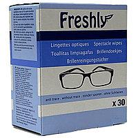 Очищающие влажные салфетки для линз очков Freshly, 30 шт