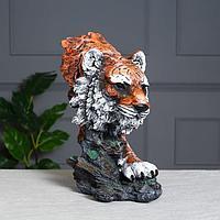 Статуэтка 'Тигр', водная краска, 37*20 см