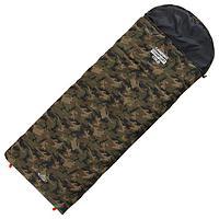 Спальник 4-слойный, R одеяло+подголовник 185 x 70 см, camping comfort cold, таффета/таффета, -15°C