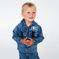 Комплект (джинсы, куртка) для мальчика, цвет синий, рост 98 см