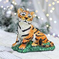 Статуэтка 'Тигр на траве', символ года 2022, 19х10х18 см