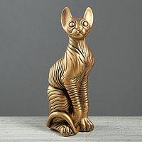 Сувенир 'Кошка', золотистый цвет, 38 см
