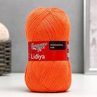 Пряжа Lidiya (ЛидияПШ) 50 шерсть, 50 акрил 1613м/100гр (670 морков.) (комплект из 2 шт.)