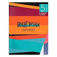 Колледж-тетрадь А5, 128 листов в клетку 'Цветные полосы', интегральная обложка, выборочный УФ-лак, блок офсет
