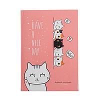 Дневник для 1-4 классов 'Приветливые котики', интегральная обложка, глянцевая ламинация, 48 листов