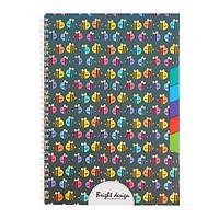 Тетрадь А4, 80 листов в клетку, на гребне 'Пчелки', обложка мелованный картон, блок офсет