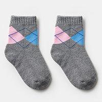Носки детские махровые, цвет серый, размер 18-20 (комплект из 6 шт.)