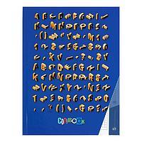 Колледж-тетрадь А5, 80 листов в клетку 'Буквы и Символы', твёрдая обложка, глянцевая ламинация, блок офсет