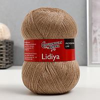 Пряжа Lidiya (ЛидияПШ) 50 шерсть, 50 акрил 1613м/100гр (52039 бежев.св.мел) (комплект из 2 шт.)