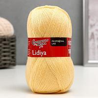Пряжа Lidiya (ЛидияПШ) 50 шерсть, 50 акрил 1613м/100гр (772 шампанск.) (комплект из 2 шт.)