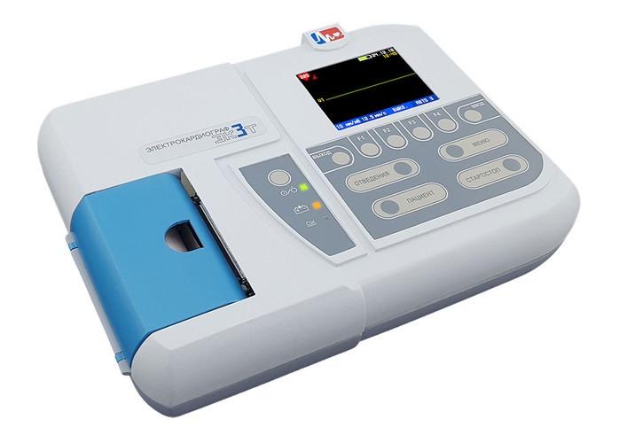 Электрокардиограф одно-трехканальный миниатюрный ЭК 3Т-01-«Р-Д»/1 (с бумагой 57 мм)