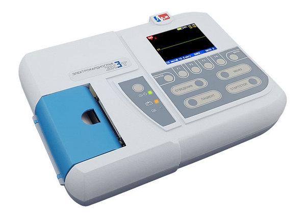 Электрокардиограф одно-трехканальный миниатюрный ЭК 3Т-01-«Р-Д»/1 (с бумагой 57 мм), фото 2