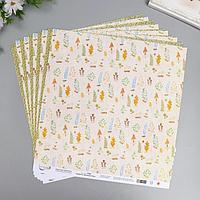 Бумага для скрапбукинга 'Осенний этюд' 190 г/кв.м 30.5 x 30.5 см 5 (комплект из 10 шт.)