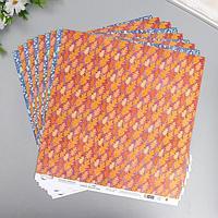 Бумага для скрапбукинга 'Осенний этюд' 190 г/кв.м 30.5 x 30.5 см 6 (комплект из 10 шт.)