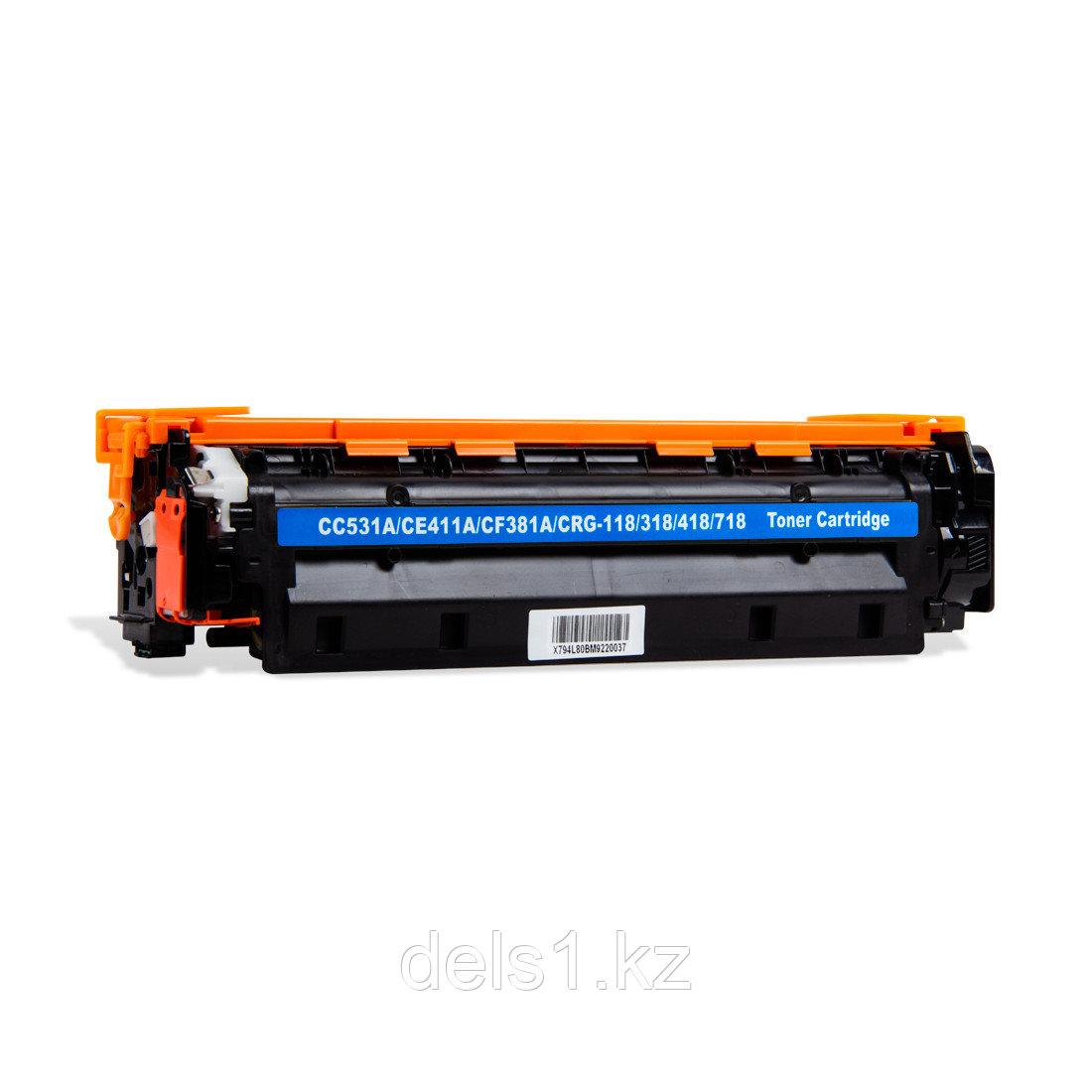 Картридж Colorfix CC531A/CE411A/CF381A, Синий, Для принтеров HP CLJ CP2020/2024/2025/2026/2027/2320