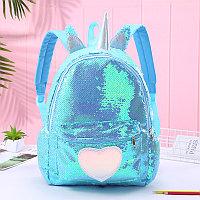 Рюкзак для школьников Единорог Unicorn blue