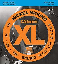 Струны для 4-струнной бас-гитары D'addario EXL160 XL