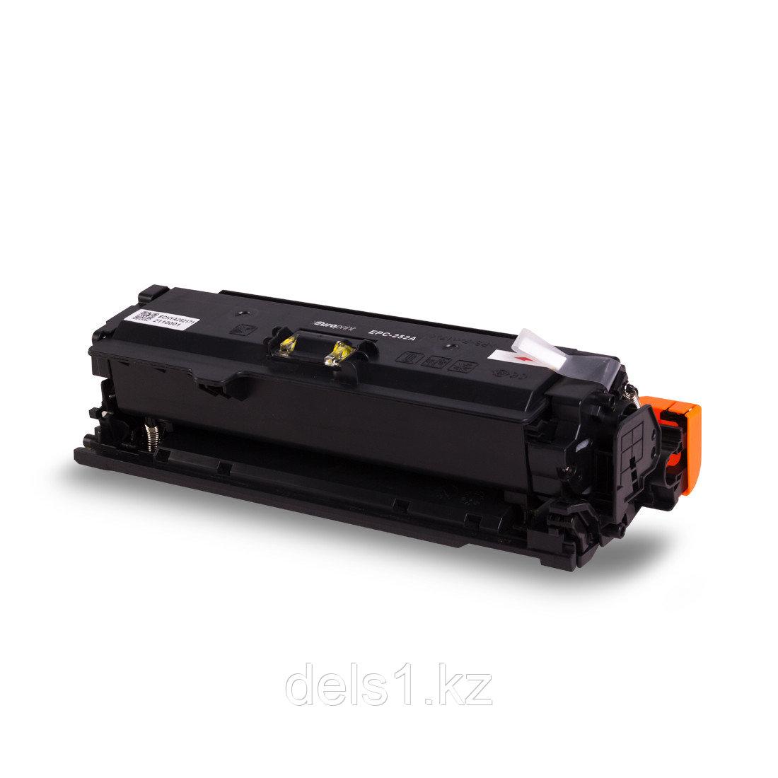 Картридж, Europrint, EPC-252A, Жёлтый, Для принтеров HP Color LaserJet CP3525/CM3530, 7000 страниц.