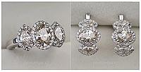 Золотой набор с бриллиантами 3.58 Ct SI1-SI2/J-H Ex- Cut