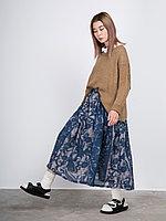 Женская юбка-миди из рами с принтом