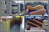 Гиперпрессованный лего кирпич облицовочный Шоколадно-коричневый, фото 2