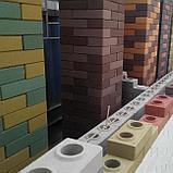 Гиперпрессованный лего кирпич облицовочный Шоколадно-коричневый, фото 3