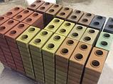 Гиперпрессованный лего кирпич облицовочный Сиреневый, фото 4