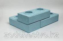 Гиперпрессованный лего кирпич облицовочный Голубой