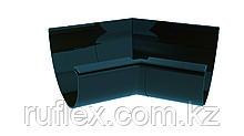 Угол наружный (внутренний) 45град. с уплотнит. для желоба d=125 мм, RUPLAST Цвет:графит  тел.:+7 701 100 08 59