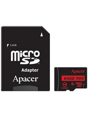 Карта памяти Apacer Micro SDXC AP64GMCSX10U5-R 64 Gb