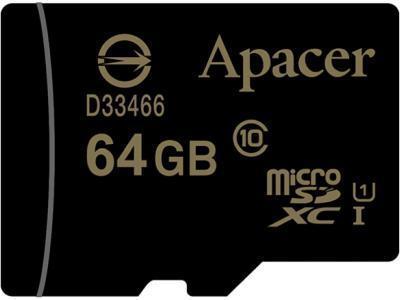 Карта памяти Apacer Micro SDXC AP64GMCSX10U1-R 64Gb