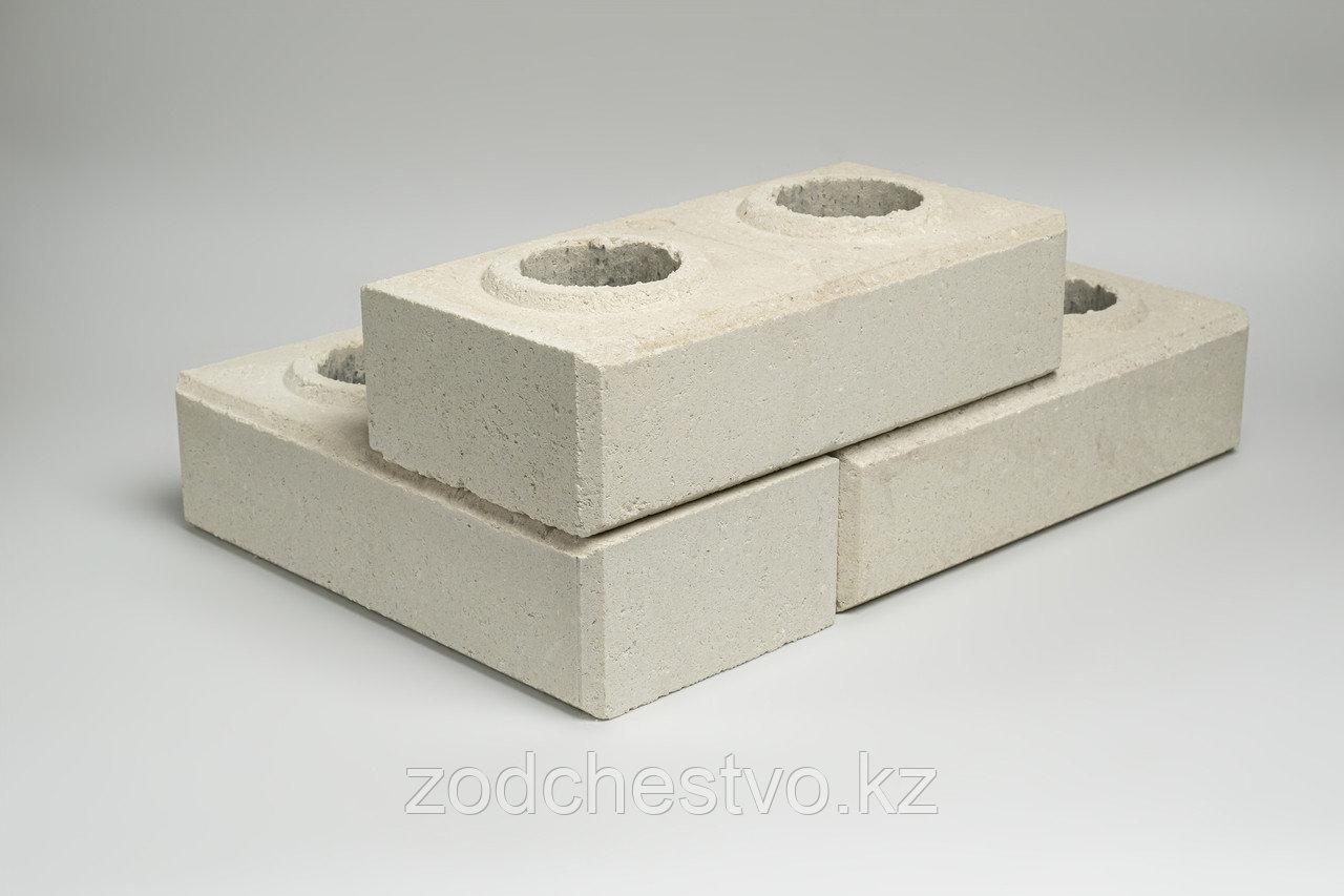 Гиперпрессованный лего кирпич облицовочный Белый