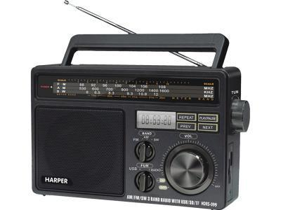 Радиоприемник HARPER HDRS-099 черный