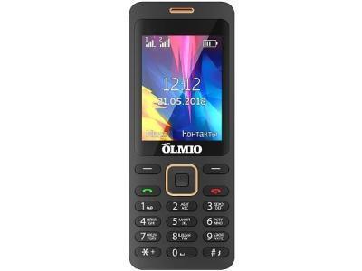 Мобильный телефон OLMIO E24 черный золотистый