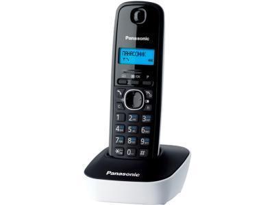 Радиотелефон Panasonic KX-TG1611RUW черный-белый