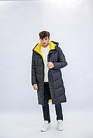 Куртка мужская зимняя длинная Vivacana черная