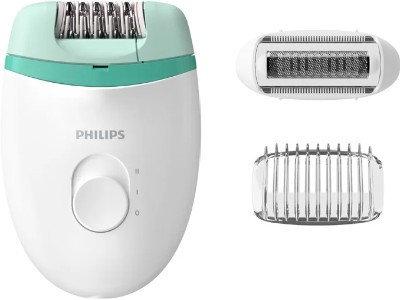Эпилятор Philips BRE245 Satinelle Essential белый-зеленый