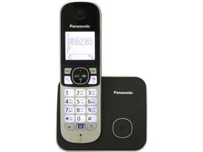 Радиотелефон Panasonic KX-TG6811RUB черный-серебристый